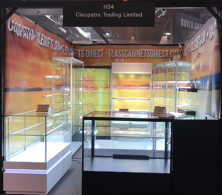 Glass Cabinets Direct exhibition stall